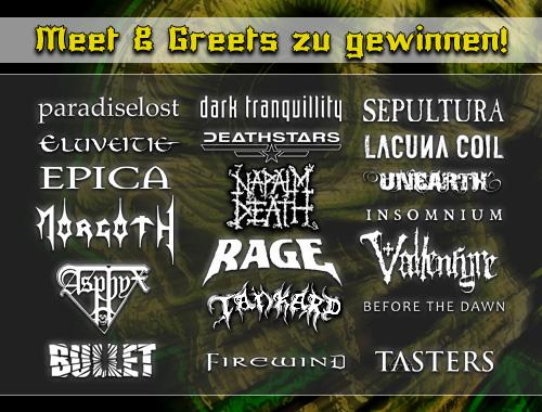 This Week Win Meet Greets With Paradise Lost Napalm Death And Bullet Summer Breeze