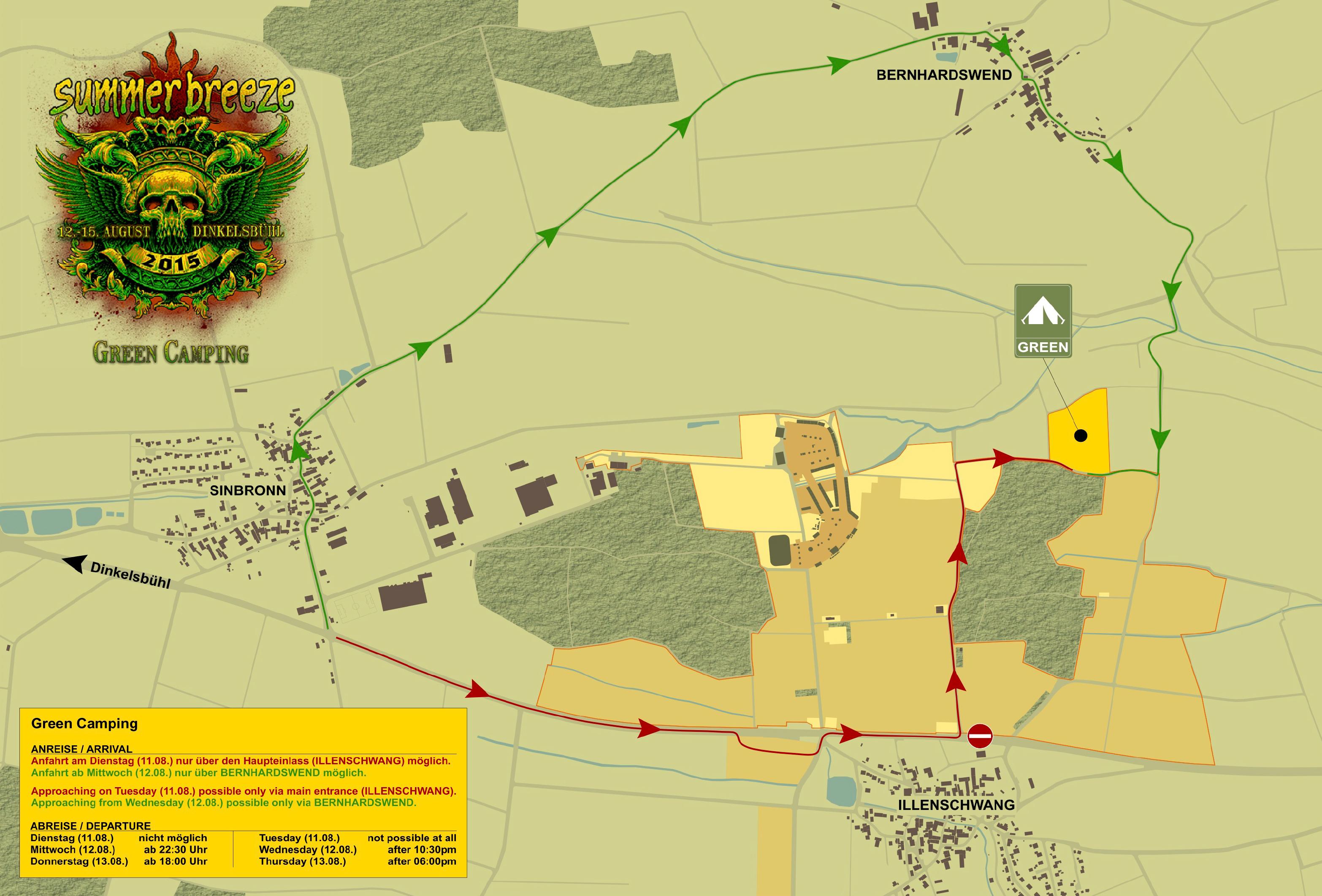 GREEN CAMPING location | Summer Breeze