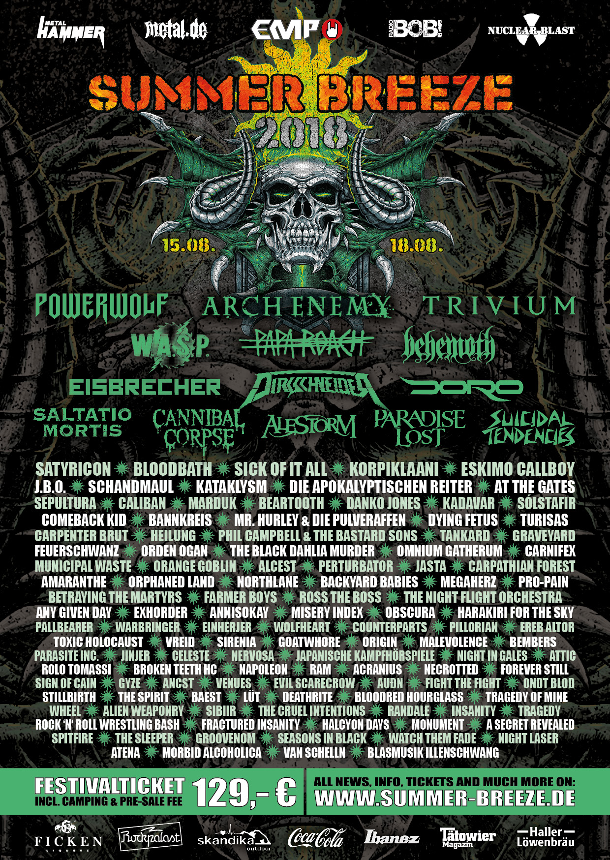 Summerbreeze 2019 Bands